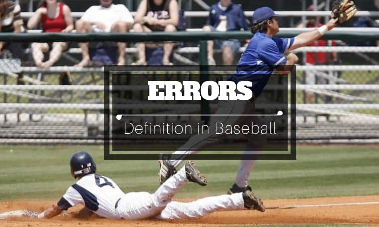 how to judge an error in baseball