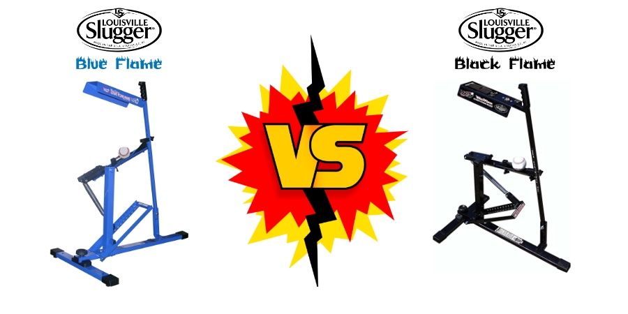 blue flame vs black flame pitching machine